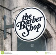 barbers barber and wall signs