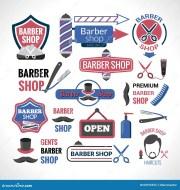 barber symbols signs labels