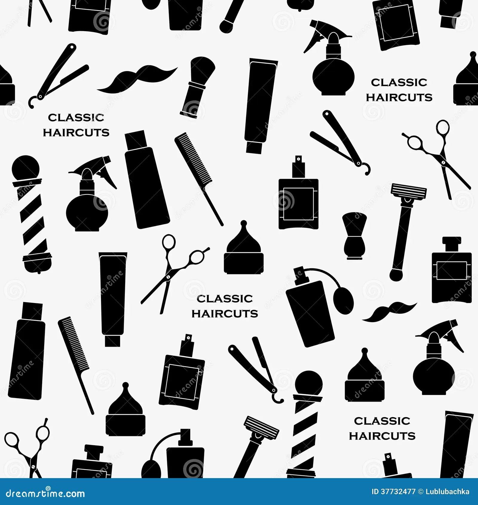 Barbershop vintage pattern stock vector Image of classic