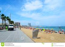 Relaxing Spain Barceloneta Beach