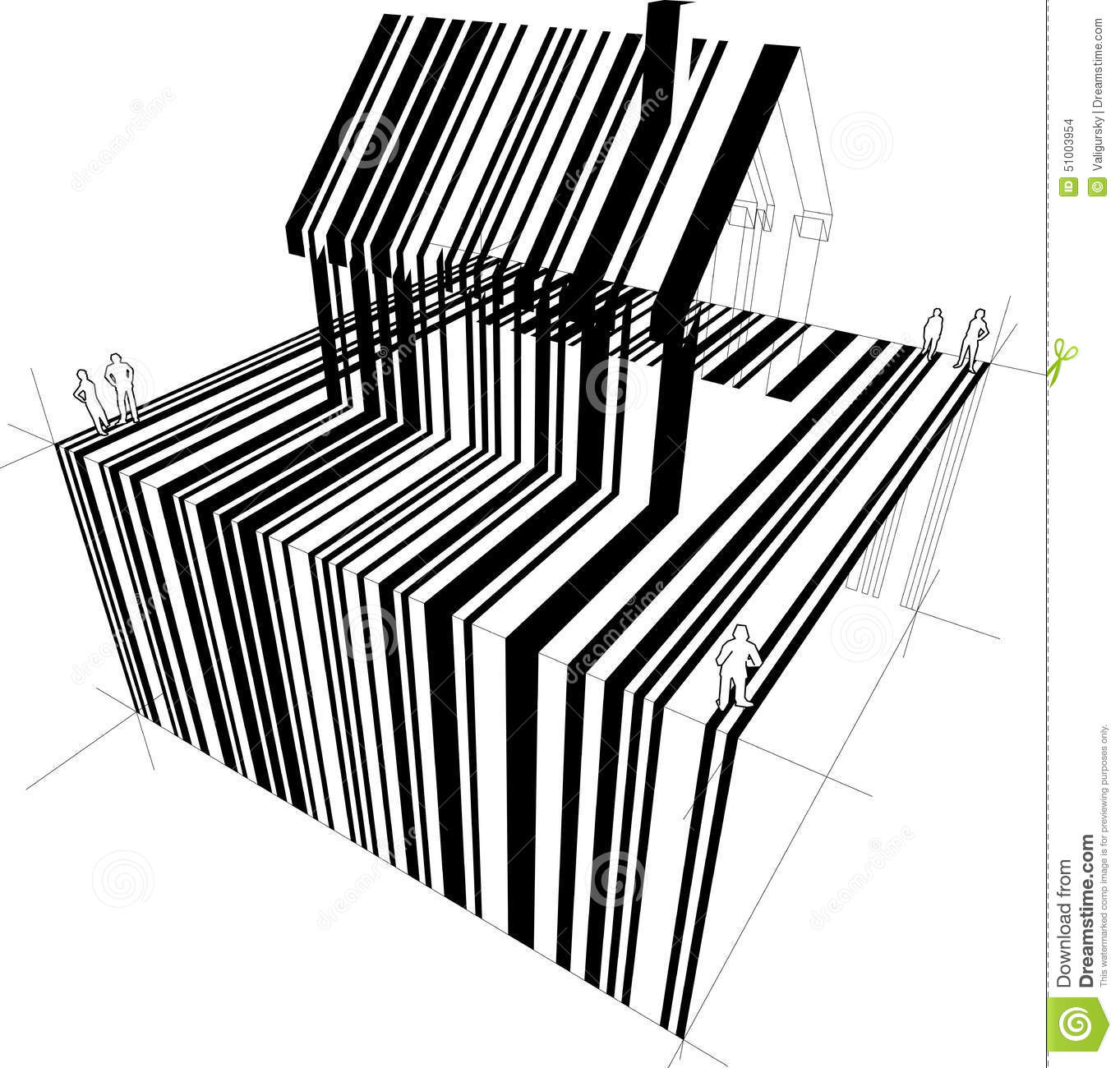 Barcode House Vector Illustration