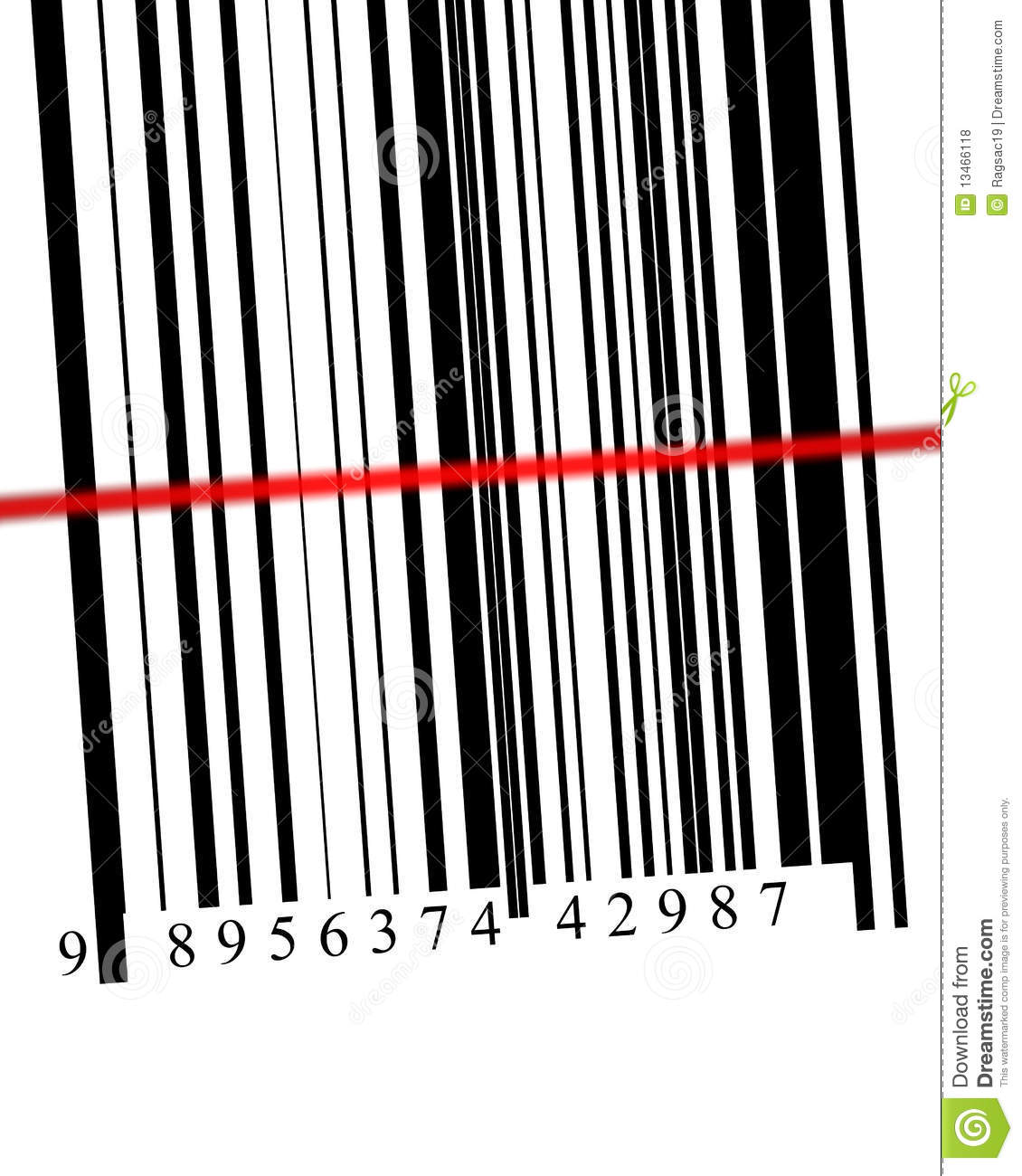 Barcode Scanned Royalty Free Stock Photos