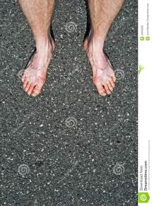 Bare Feet in Cement