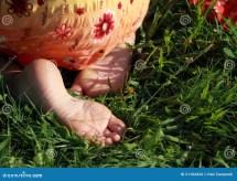 Bare Feet Of Little Girl Stock - 21104434