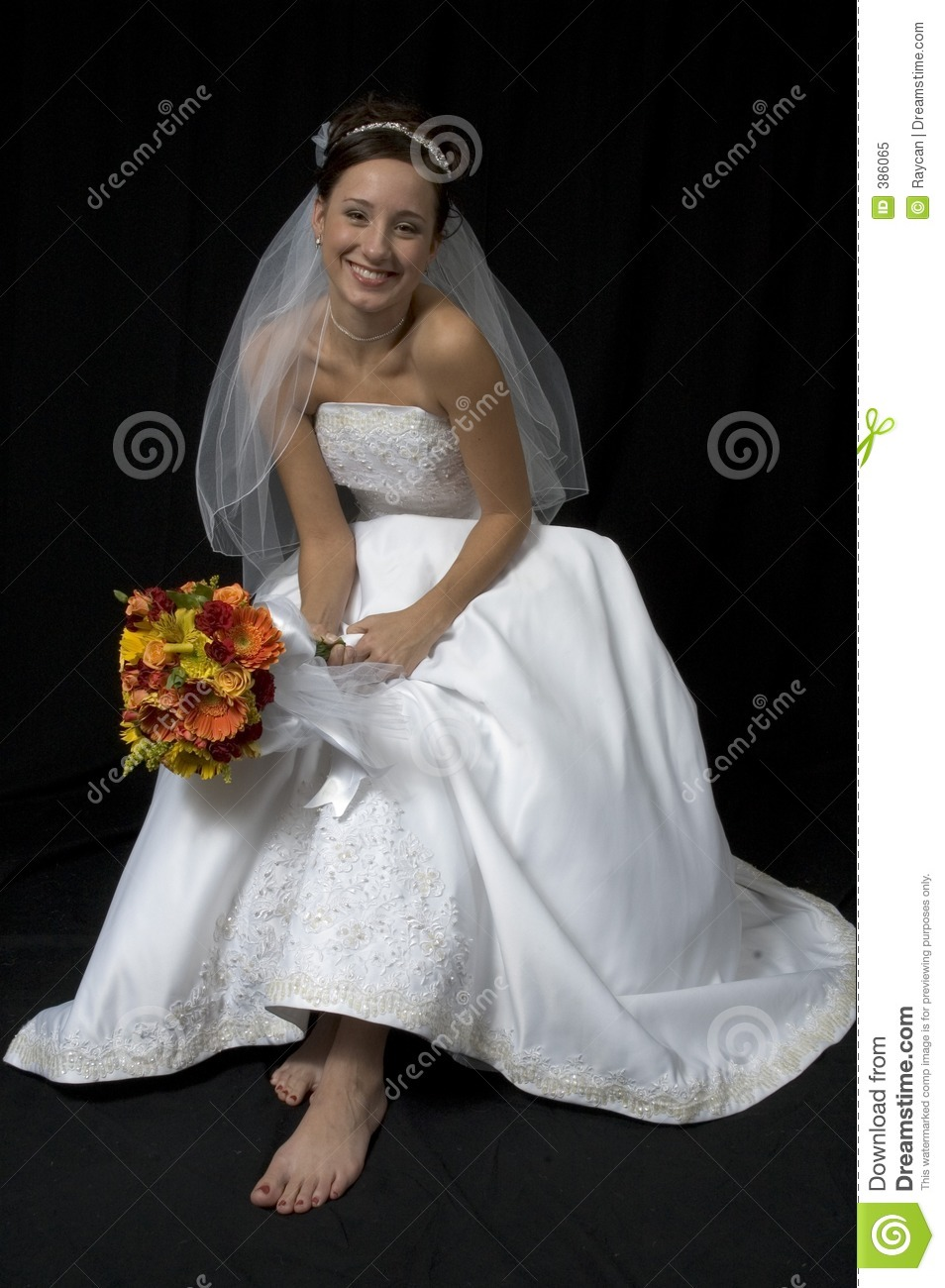 Bare Foot Bride Royalty Free Stock Photo Image 386065