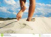 Woman Going Barefoot