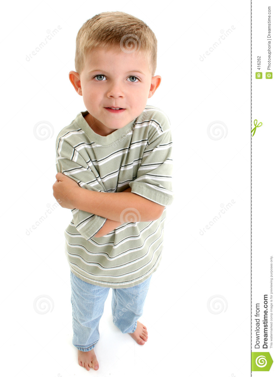 Barefoot Boy Child Stock Photography Image 416262