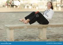 Business Women Sitting Barefoot
