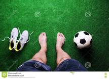 Barefoot Soccer Players