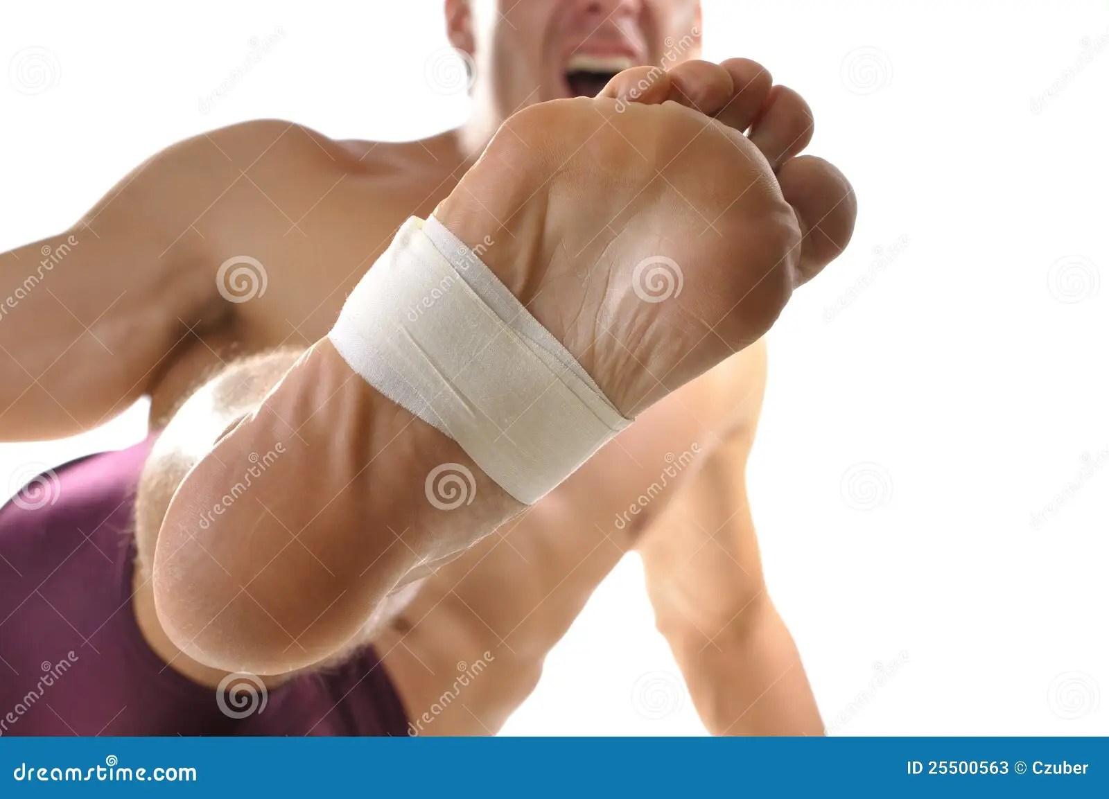 Barefoot kick stock image Image of martial aikido