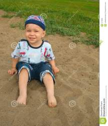 Little Boy Barefoot