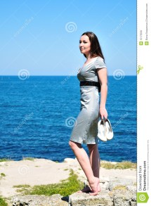 Barefoot Young Woman Royalty Free Stock