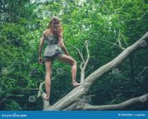 Barefoot Woman Tree