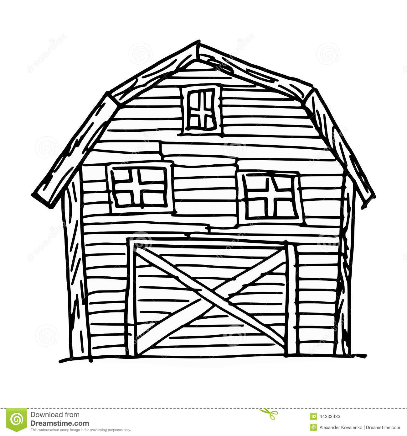 Barn Stock Vector Illustration Of Single Ranch