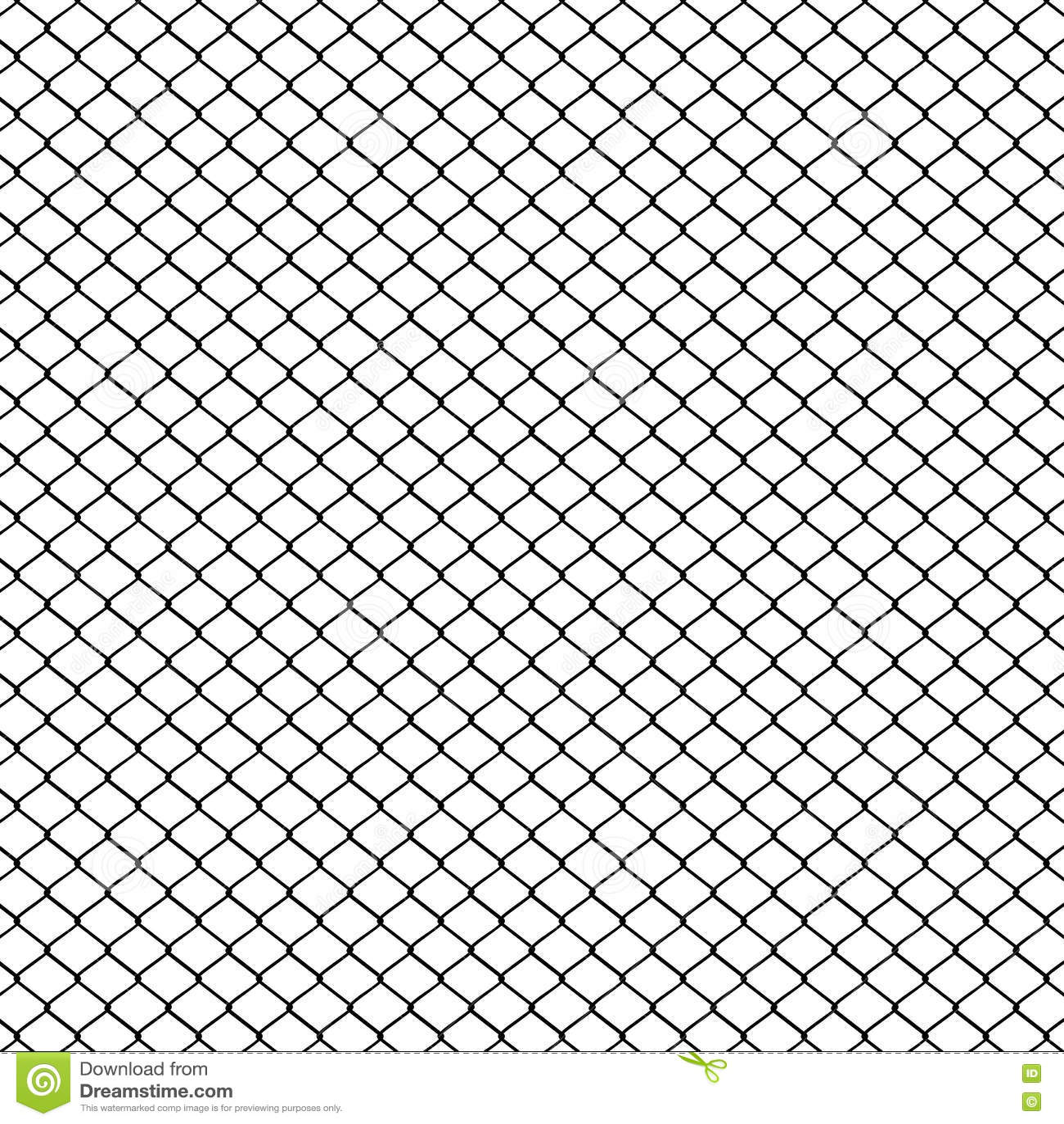 Barrière De Maille En Métal Illustration de Vecteur