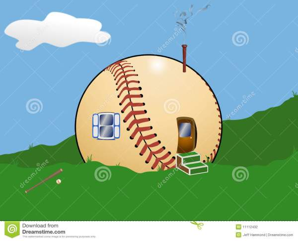 Cartoon Baseball Field