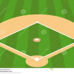 Regulation Baseball Field Diagram Fuse Tap Wiring As Background Stock Vector Illustration