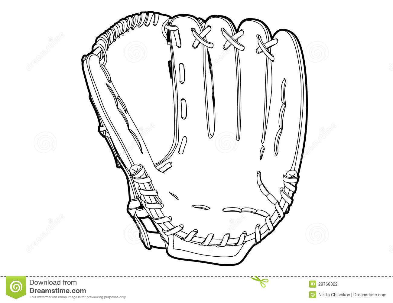 Baseball Glove Stock Vector Illustration Of Sport