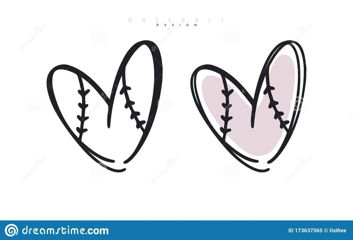 Download Baseball Love. Heart For Valentine`s Day. Sports Vector ...