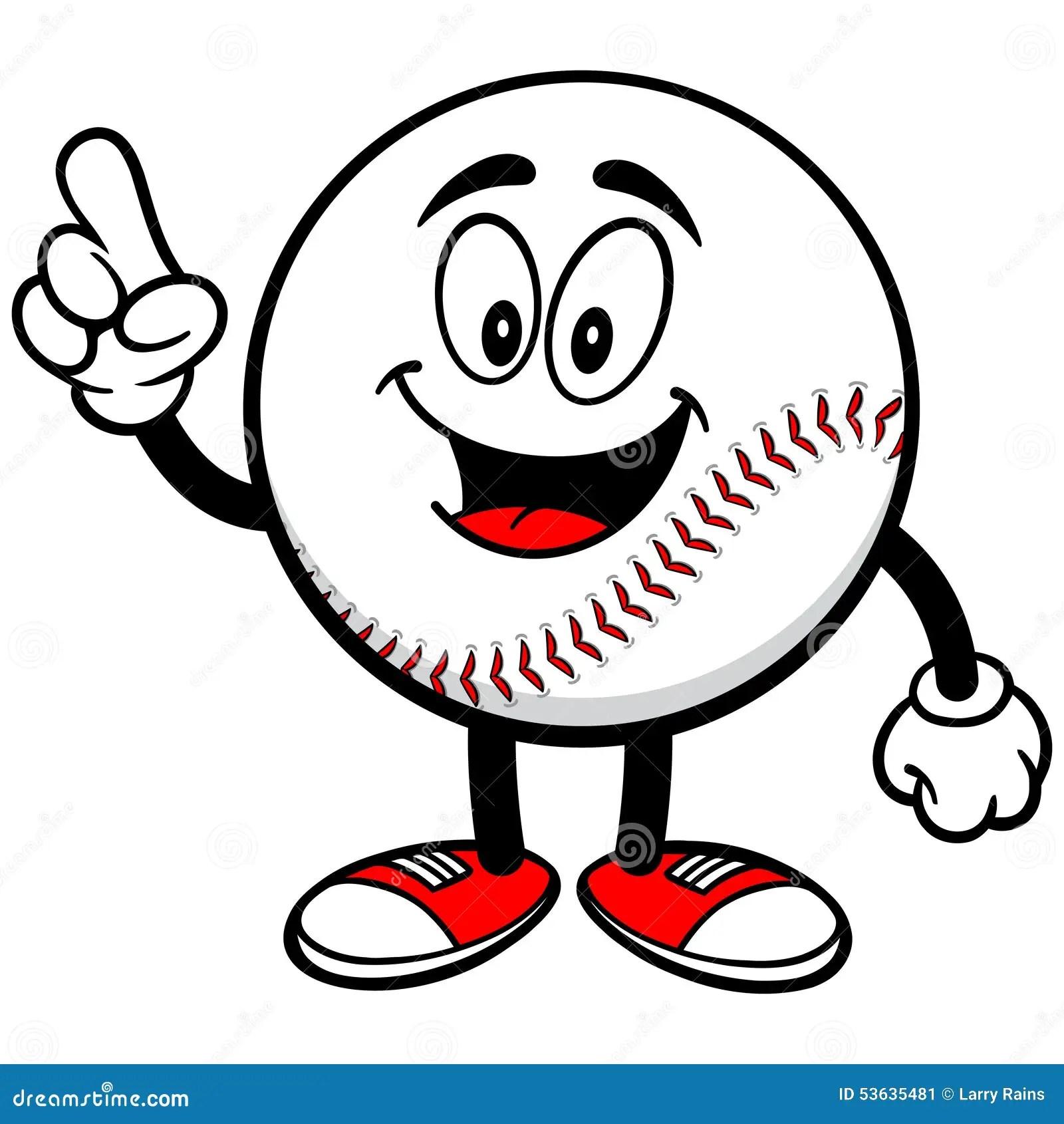 Baseball Mascot Talking Stock Vector