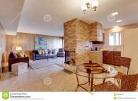Basement Open Floor Plan. Living Room With Dining And ...