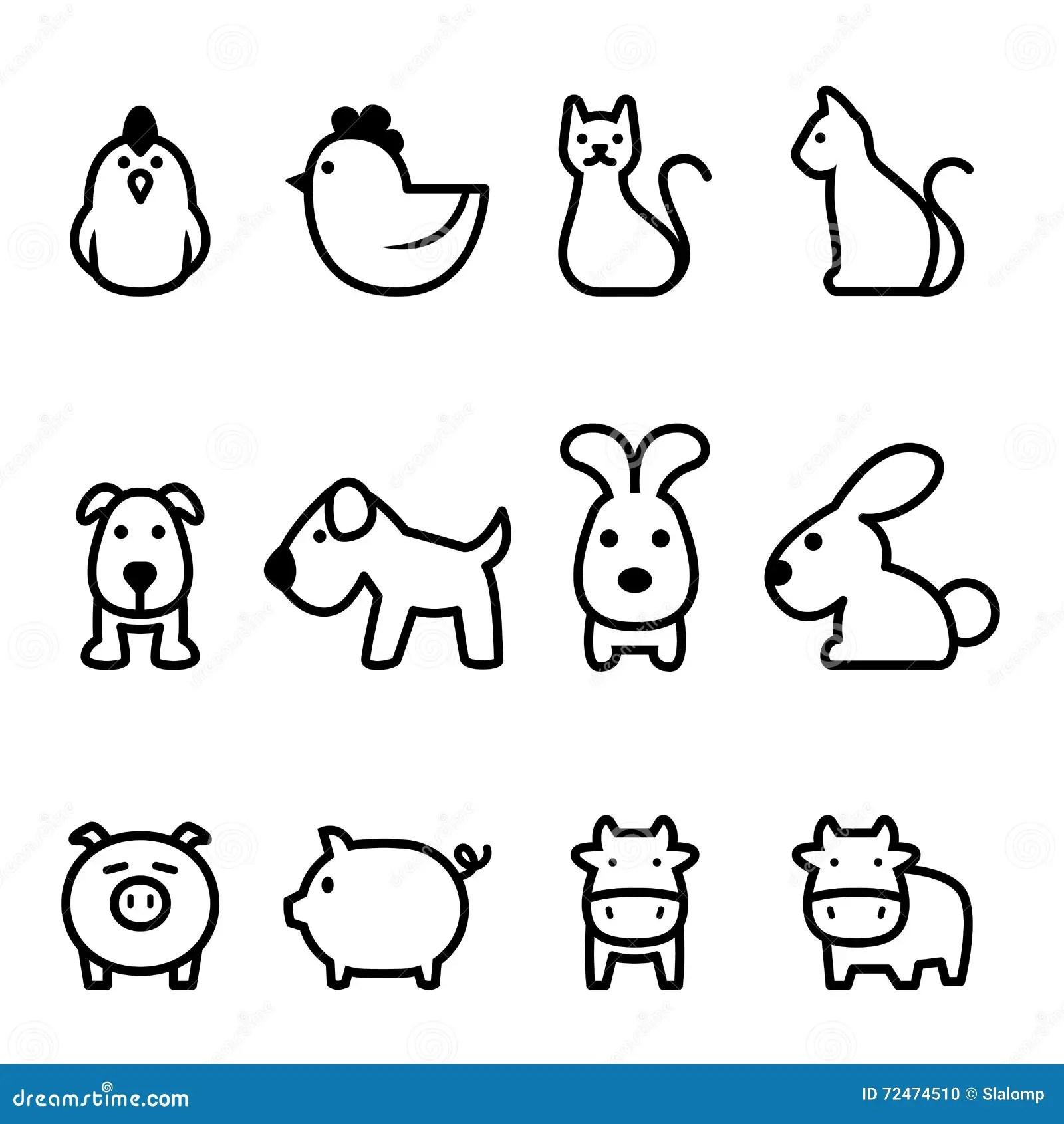 Basic Animal Icon Stock Illustration Image Of Elements