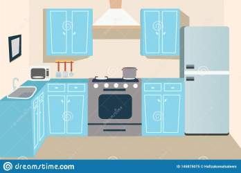 Game And Cartoon Kitchen Background Stock Illustration Illustration of clean background: 145875075