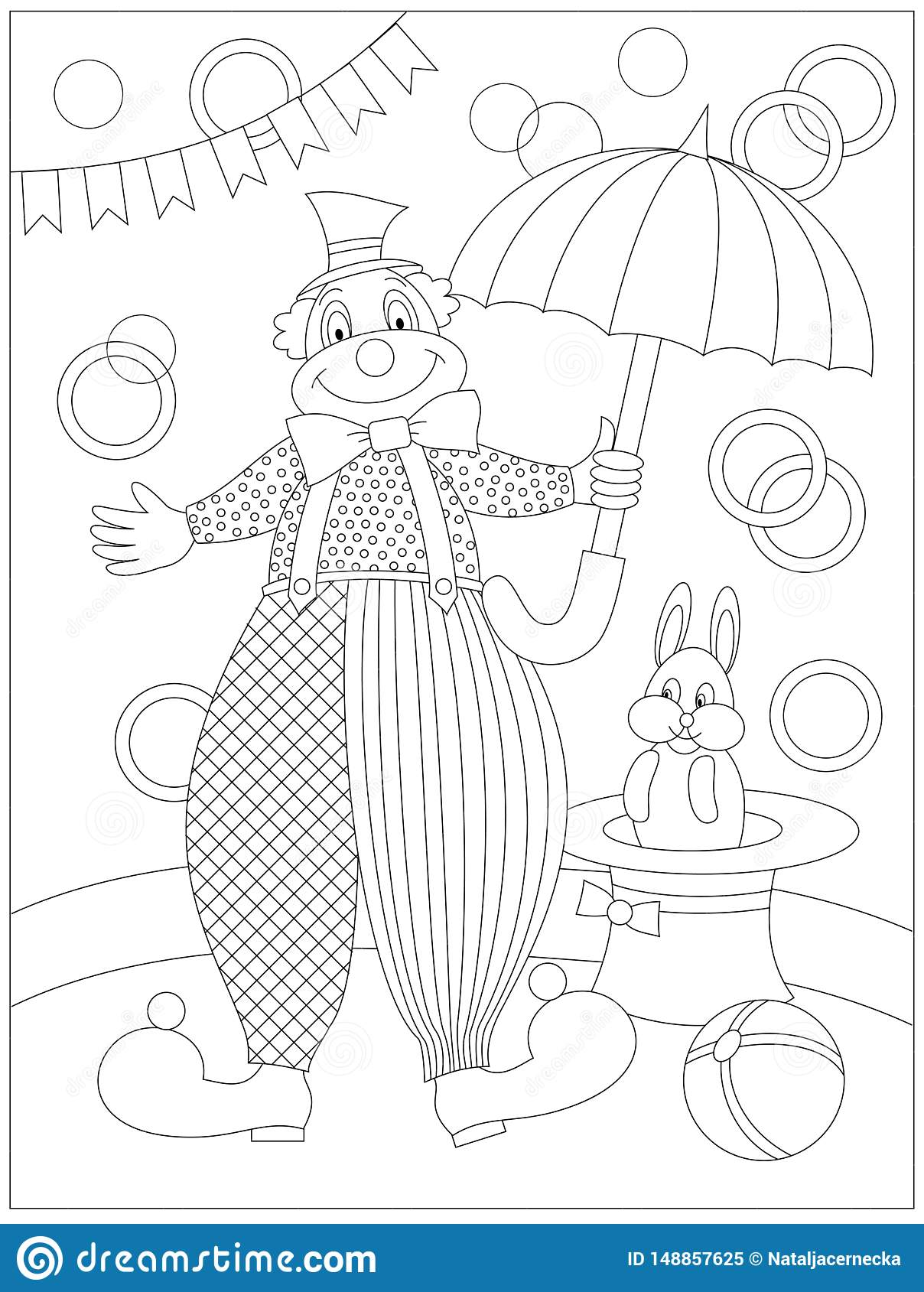 Black And White Page For Baby Coloring Book Drawing Of