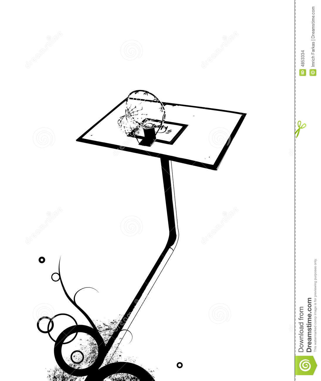 Basket With Abstract Design Vector Stock Images