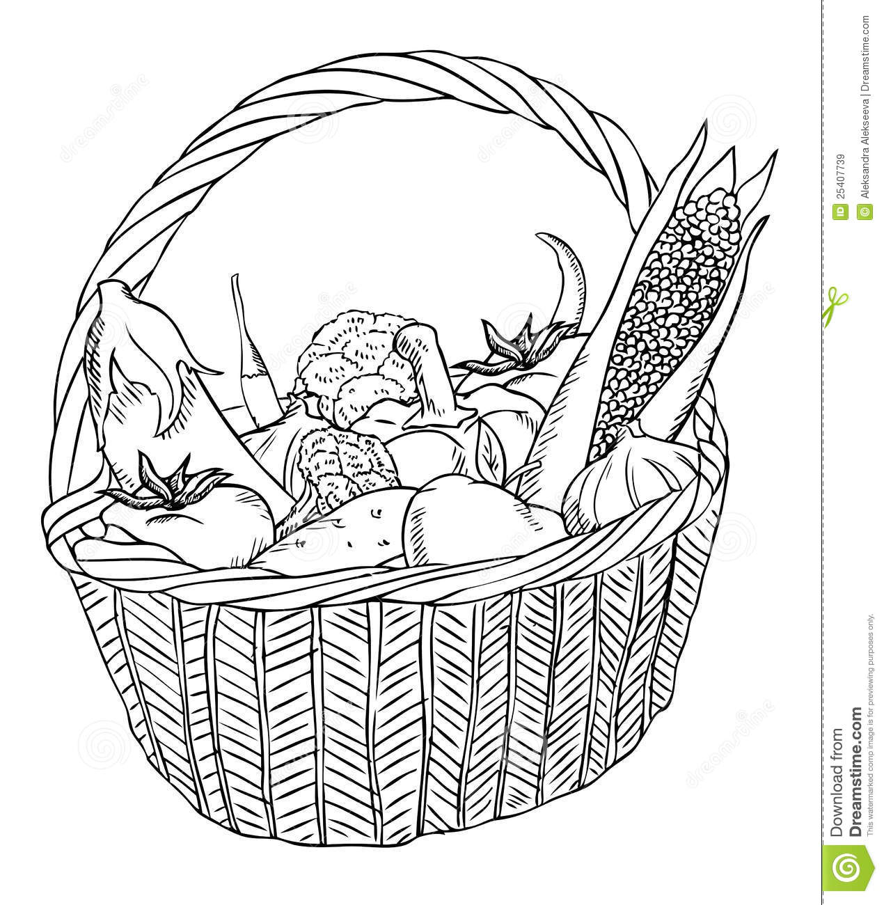 Basket With Different Vegetables Royalty Free Stock Images
