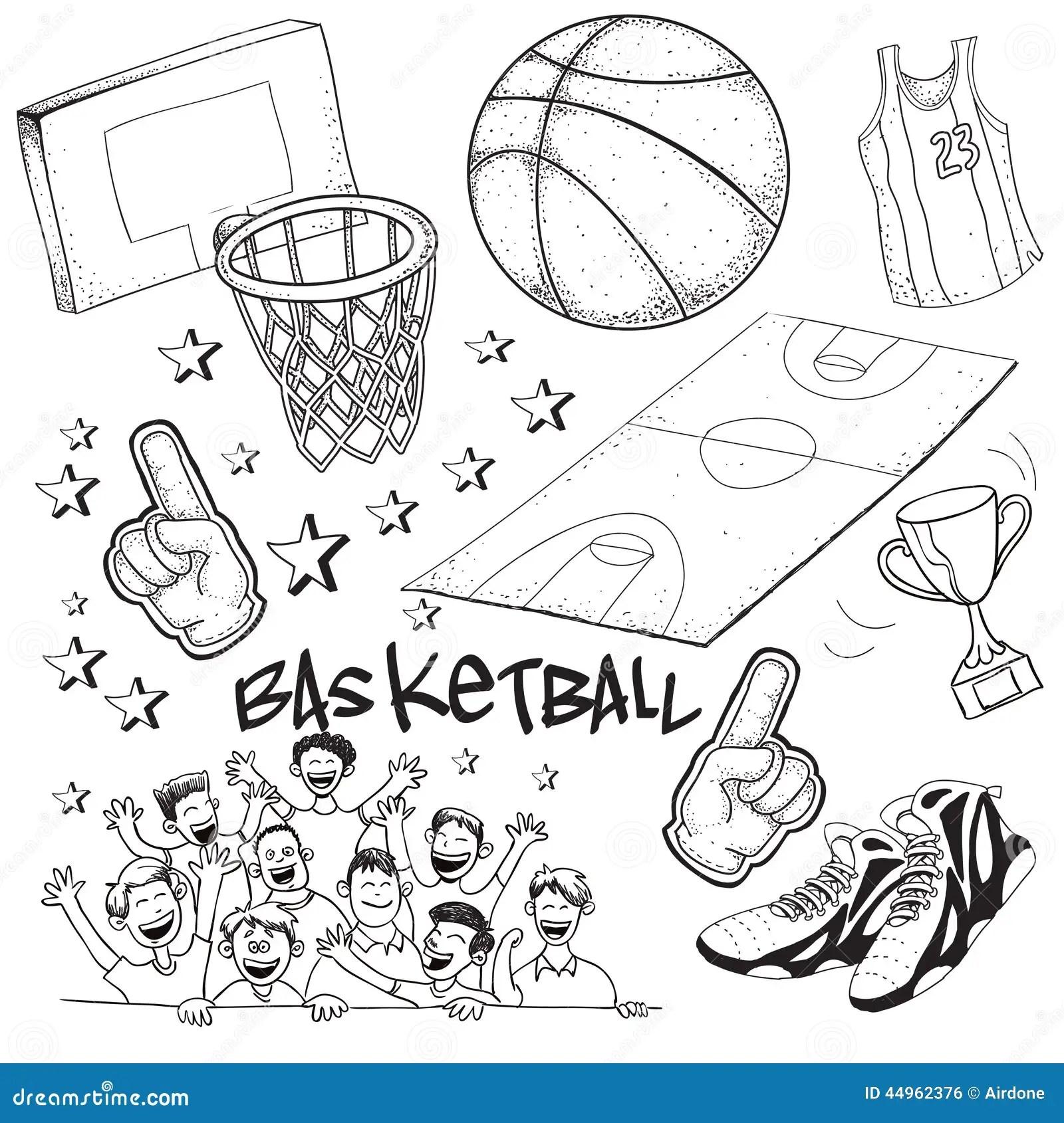 Basketball Stock Vector Illustration Of Drawing