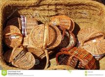 Basketry Traditional Handcraft In Spain Stock