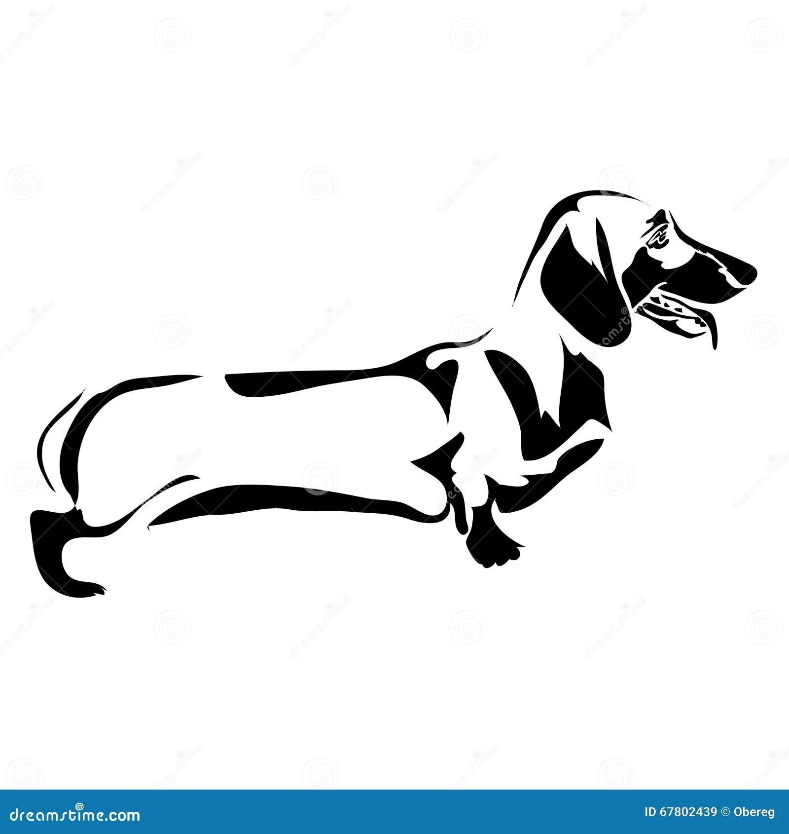 Bassotto Tedesco Del Cane Del Profilo Illustrazione