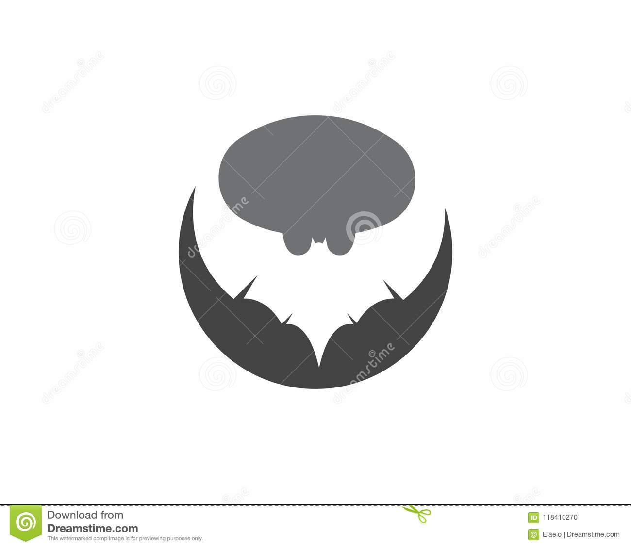 Download Bat Vector Icon Logo Template Stock Vector - Illustration Of  Background, Animal: 118410270