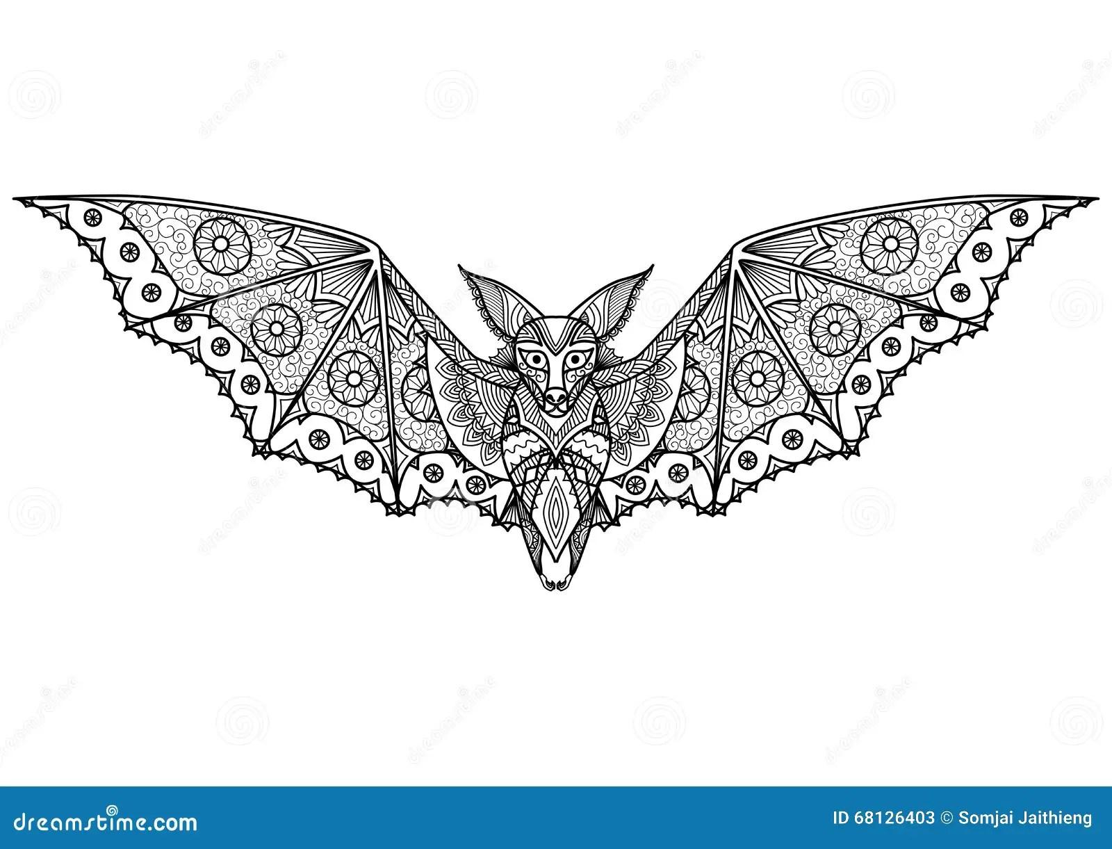 Bat Zentangle Stock Vector