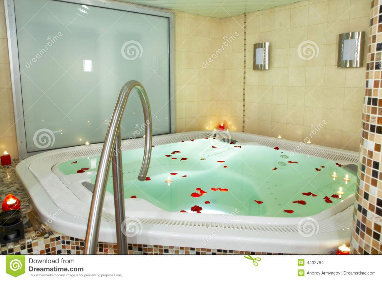 Bath Of A Jacuzzi Stock Images Image 4432784