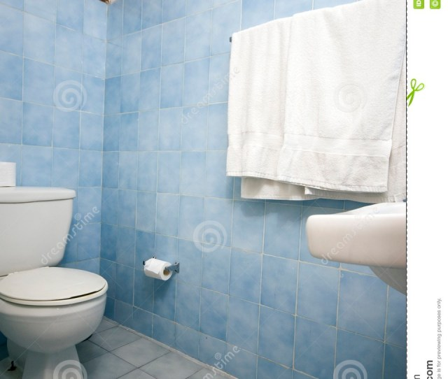Bathroom With Blue Tile