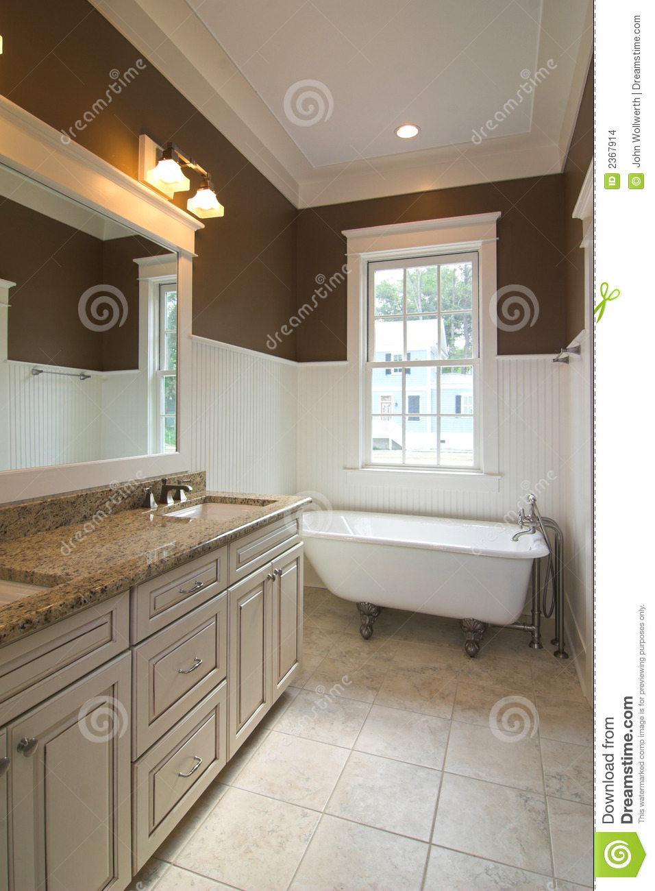 Bathroom with clawfoot tub stock photo Image of crown