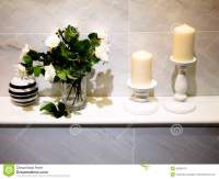 Bathroom decor stock image. Image of candle, massage ...