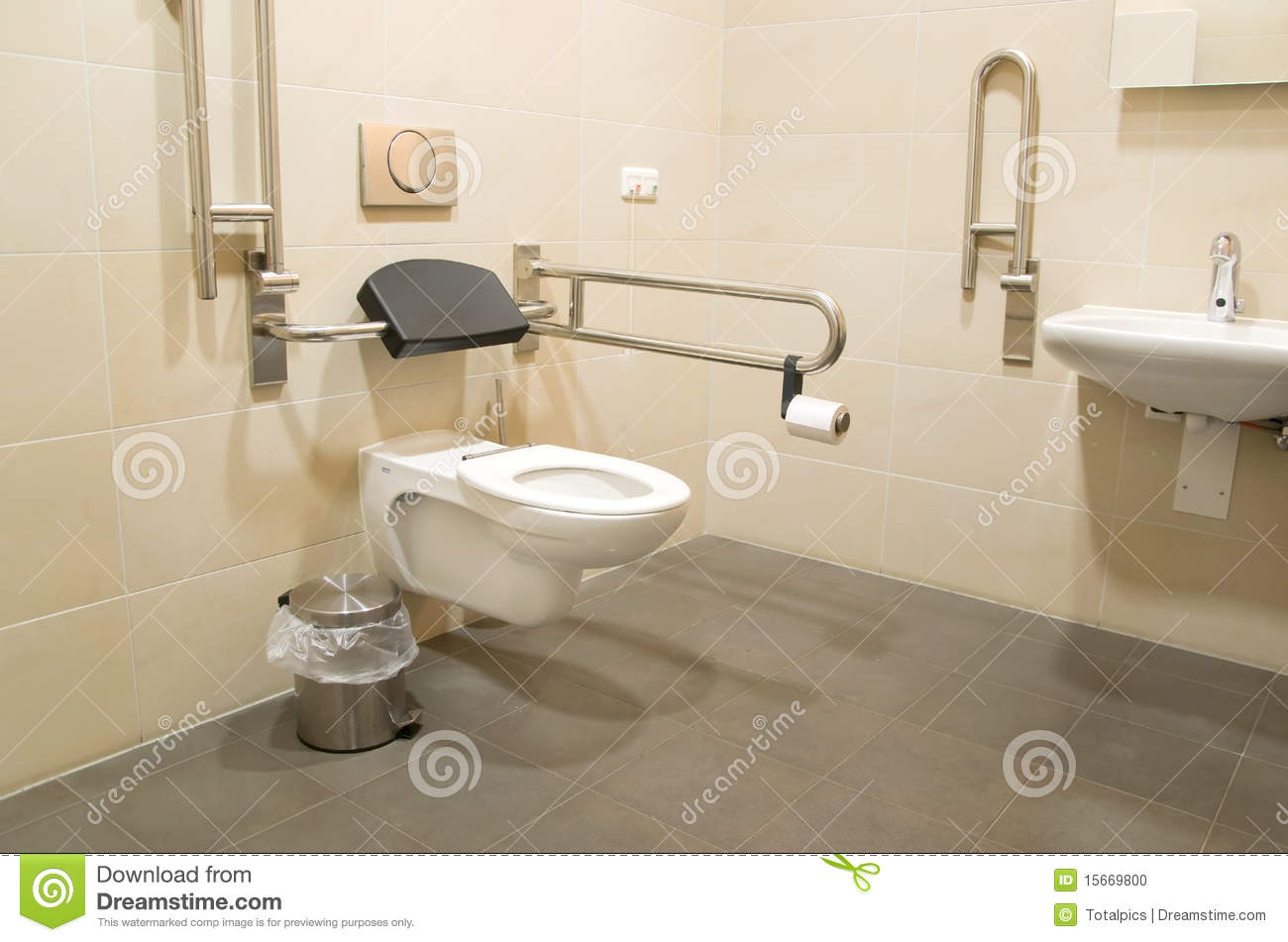 Barra Baño Minusvalidos Bathroom For Disabled People Stock Photo Image 15669800