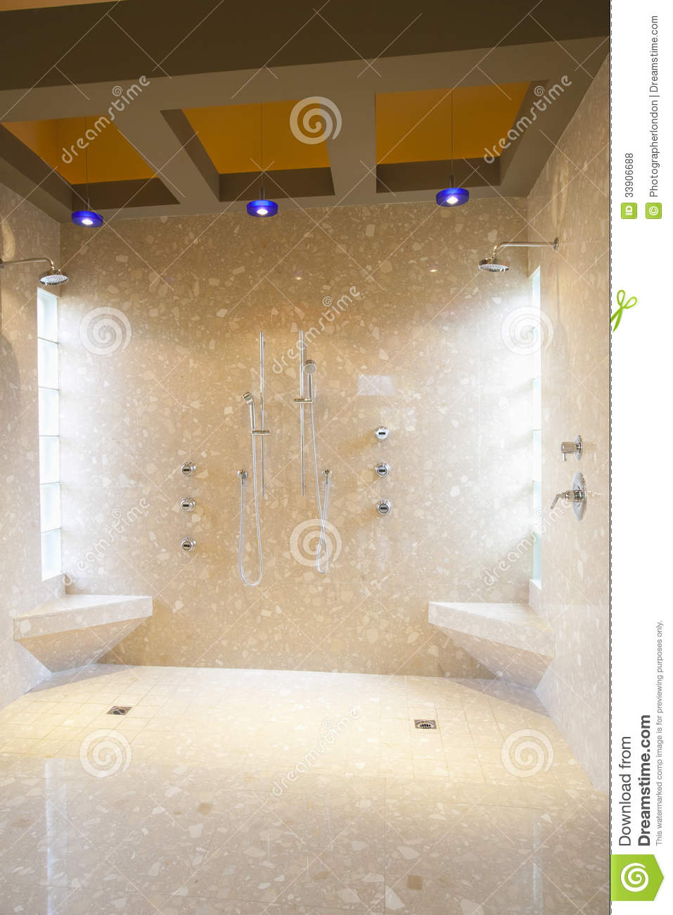 Bathroom With His And Hers Shower Heads Royalty Free Stock Photos  Image 33906688