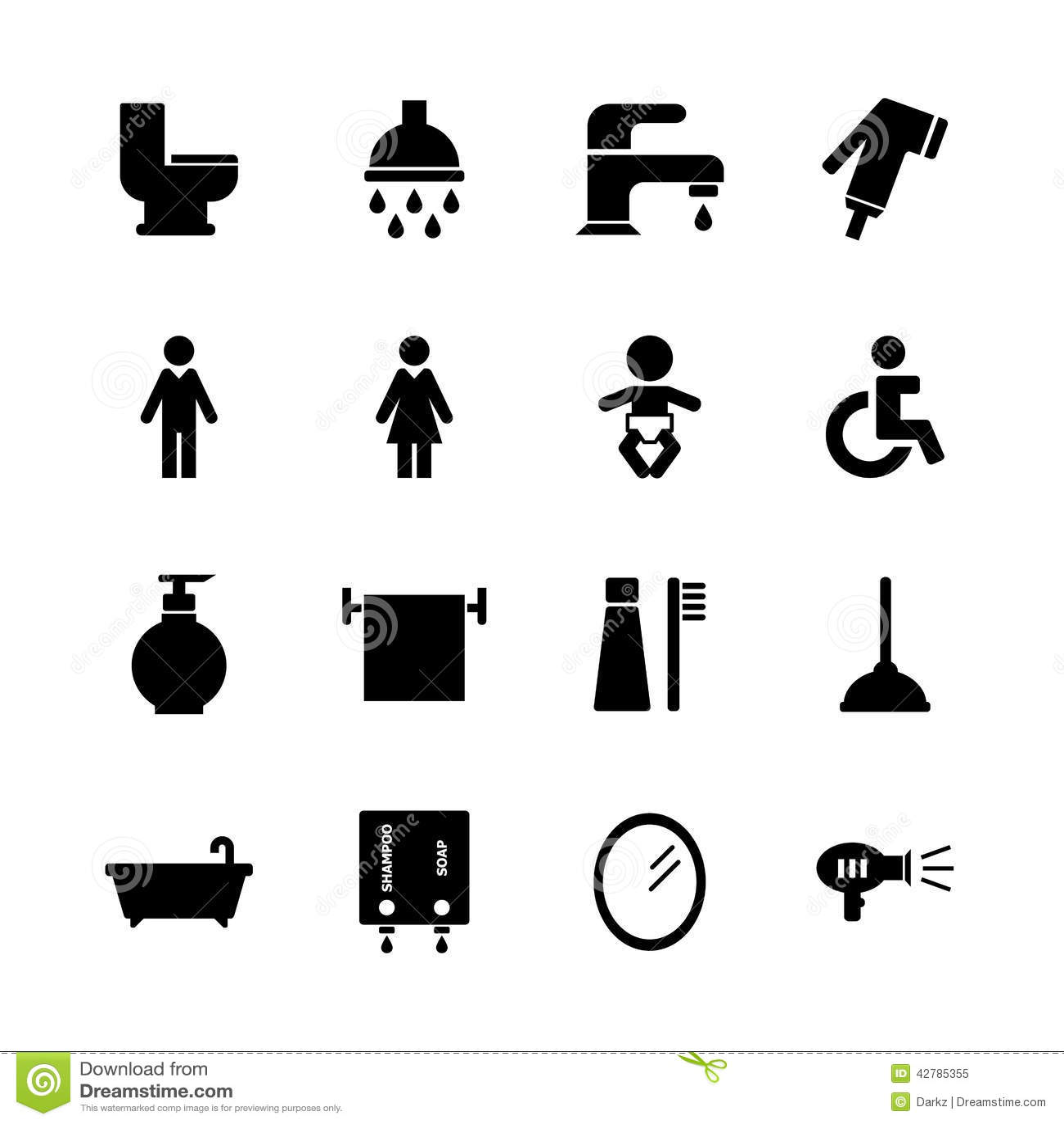 Bathroom Icon Stock Illustration Illustration Of Comb