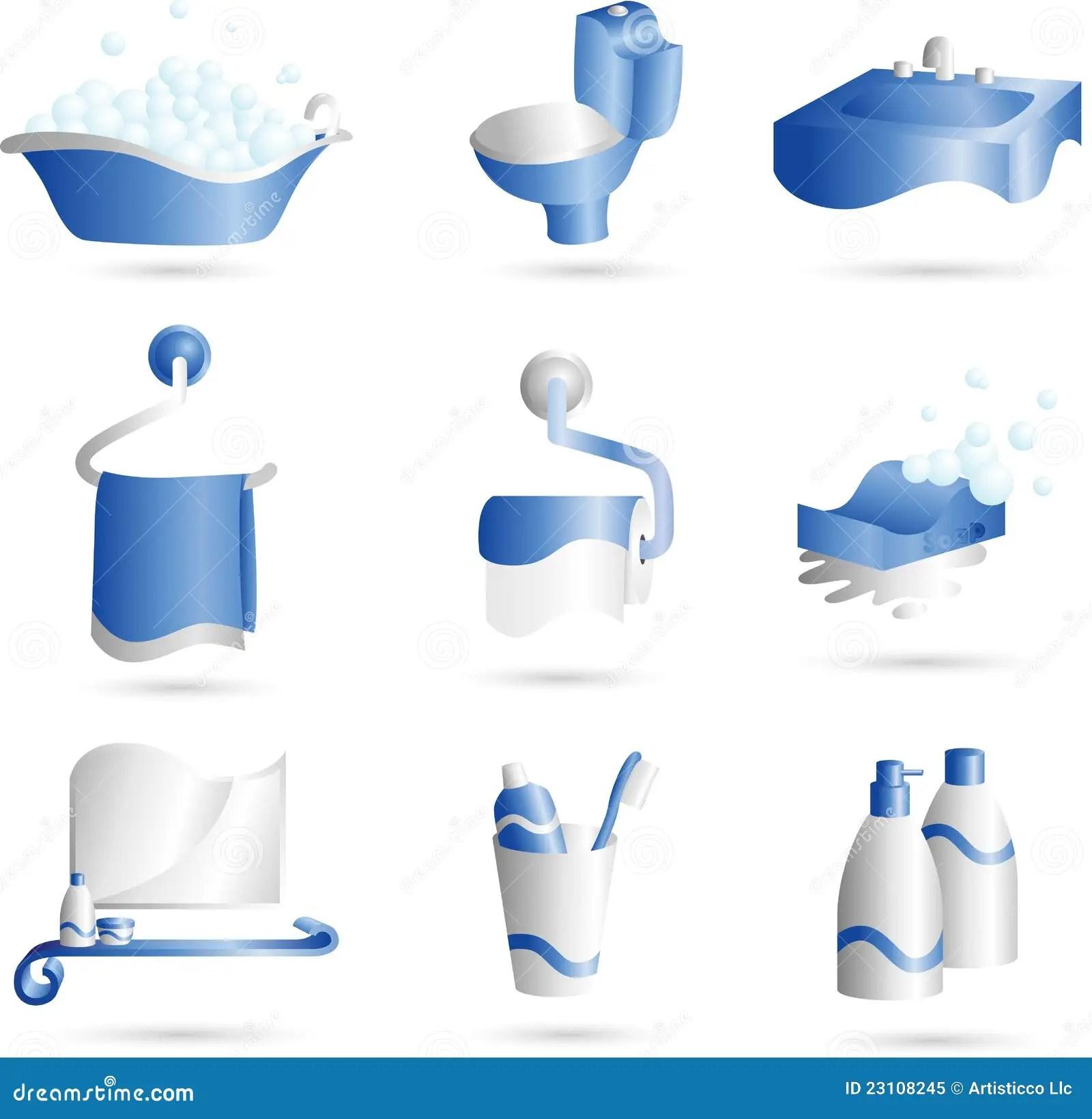 Bathroom Icons Royalty Free Stock Photo  Image 23108245