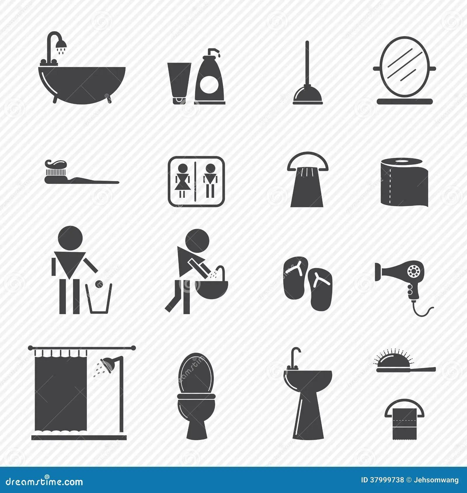 Bathroom Icons Royalty Free Stock Photos