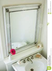 Bathroom Mirror Royalty Free Stock Images