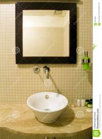 Bathroom sink and mirror stock image. Image of mirror ...