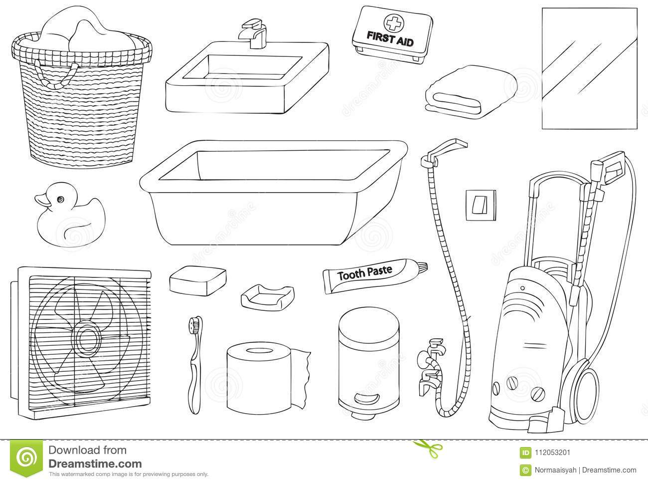Tools Outline Stock Illustrations