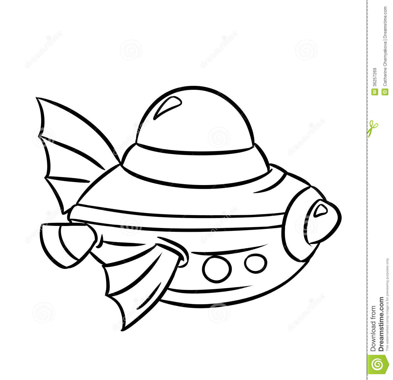 Bathyscaphe Coloring Pages Royalty Free Stock Images