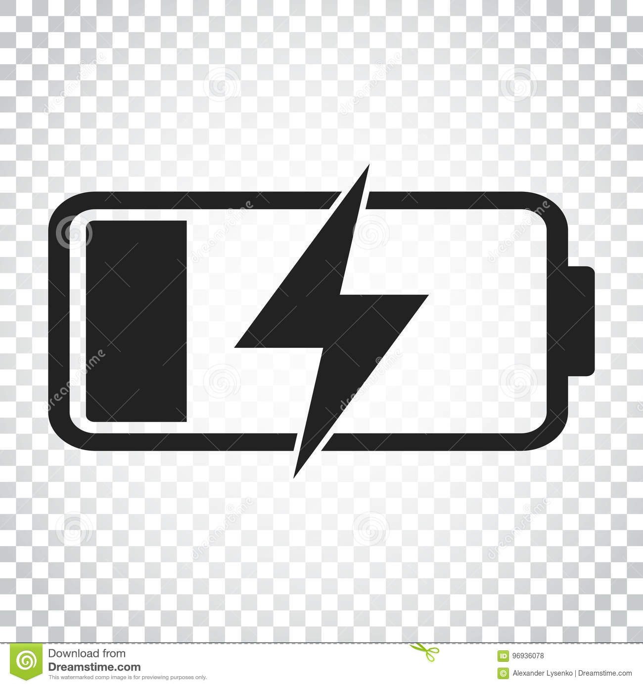 Battery Charge Level Indicator Vector Illustration On
