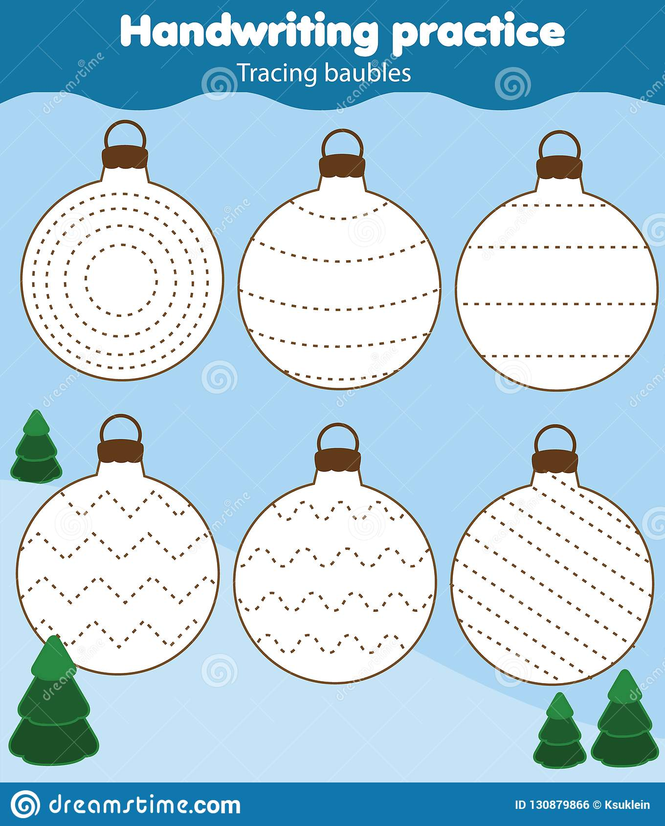 Baubles Tracing Lines For Toddlers Handwriting Practice